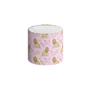 Leo et Flores Pattern in Petal Pink Handmade to order Lampshade - 3 Sizes Available