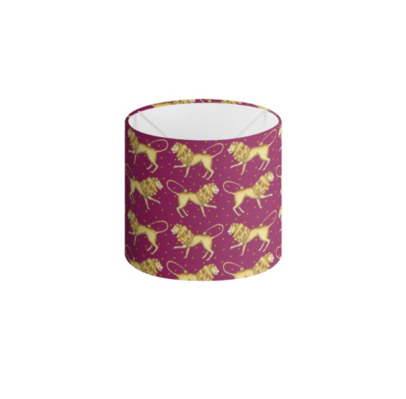 Lion Pattern in Ruby Handmade to order Lampshade - 3 Sizes Available