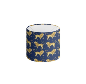 Lion Pattern in Sapphire Handmade to order Lampshade - 3 Sizes Available