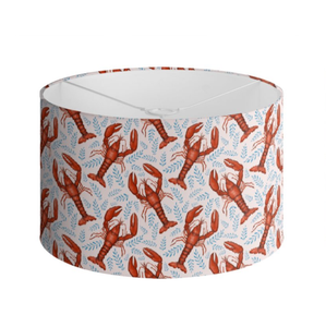 Lobster Pattern in Shell Pink Handmade to order Lampshade - 3 Sizes Available
