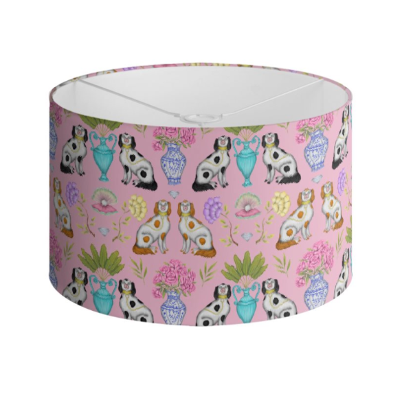 Miami China Dogs Pattern Handmade to order Lampshade - 3 Sizes Available
