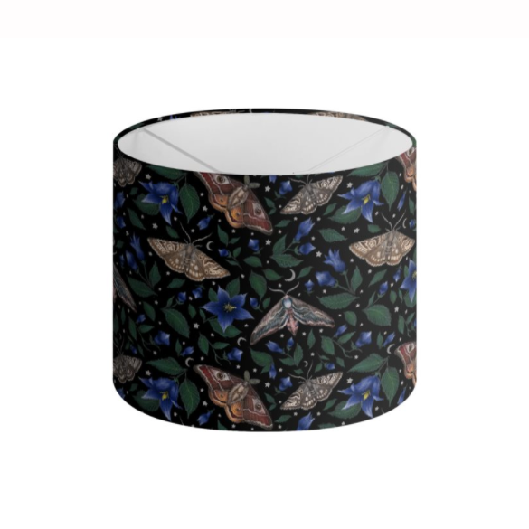 Moths Pattern Handmade to order Lampshade - 3 Sizes Available