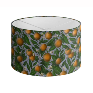 Orange Blossom Pattern Handmade to order Lampshade - 3 Sizes Available