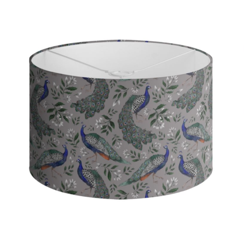 Peacocks and Jasmine Pattern Handmade to order Lampshade - 3 Sizes Available