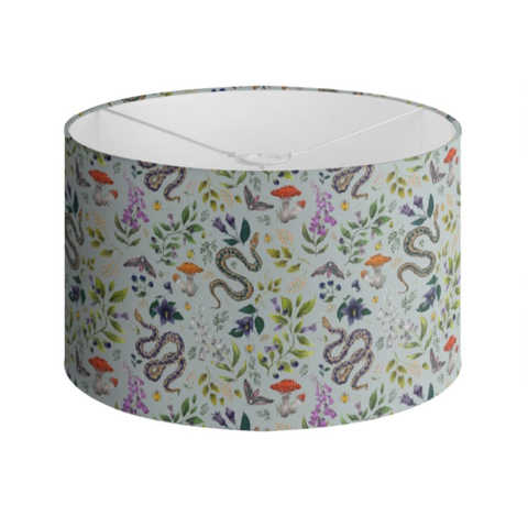 Poisonous Pattern in Eau de Nil Handmade to order Lampshade - 3 Sizes Available