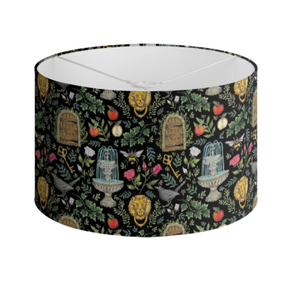 Secret Garden Pattern Handmade to order Lampshade - 3 Sizes Available