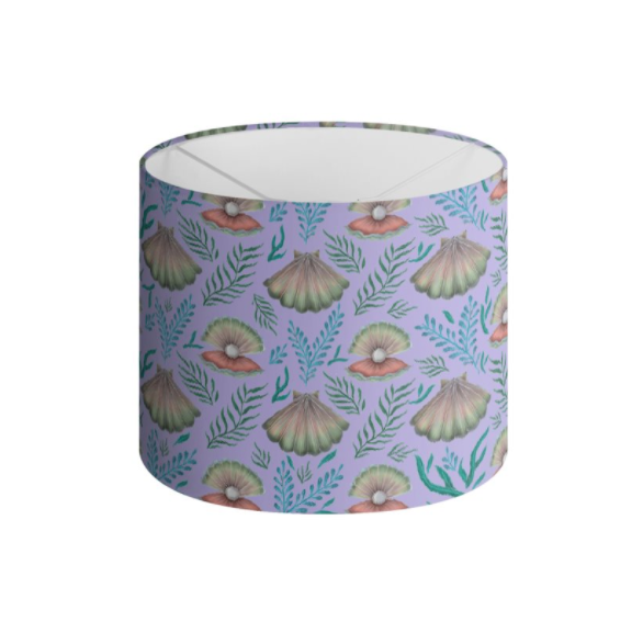 Shell with Pearl Pattern in LilacHandmade to order Lampshade - 3 Sizes Available