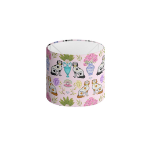 Miami China Dogs Pattern in Sugar Pink Handmade to order Lampshade - 3 Sizes Available