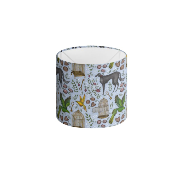 Amsterdam Pattern in Powder Blue Handmade to order Lampshade - 3 Sizes Available