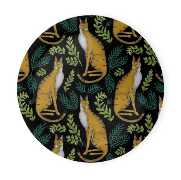 Jungle Cat Pattern Coaster Set of 4 - Made to Order in London