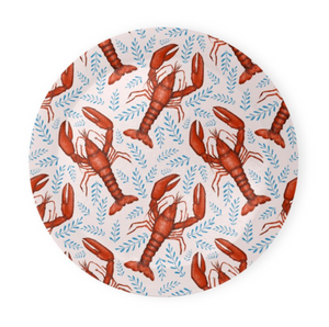 Lobster Pattern in Pink Coaster Set of 4 - Made to Order in London