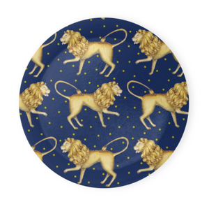 Lion Pattern in Sapphire Coaster Set of 4 - Made to Order in London