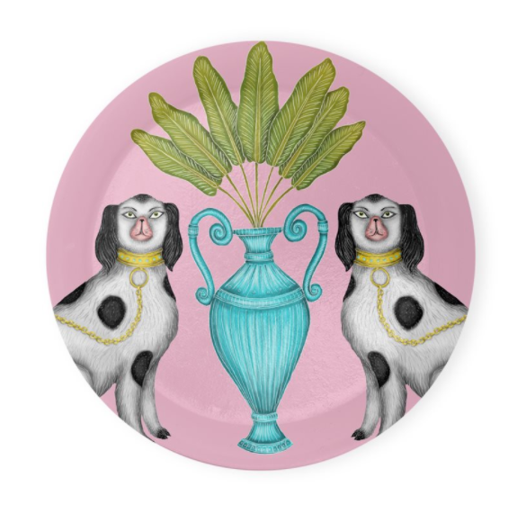 Miami China Dogs Coaster Set of 4 - Made to Order in London