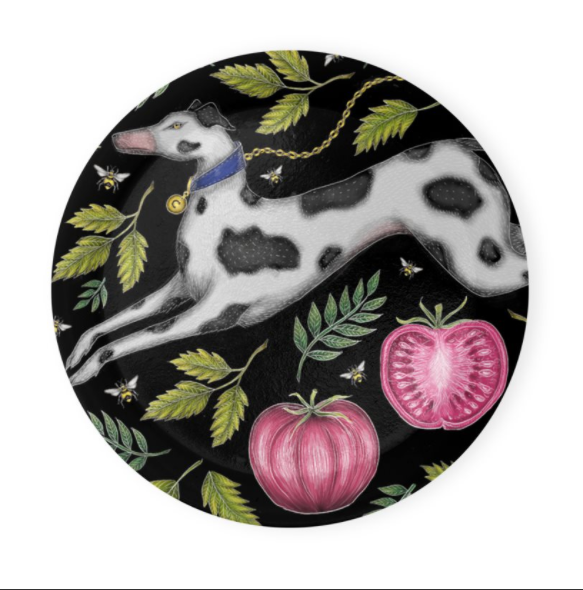 Spotty Dog and Tomatoes Coaster Set of 4 - Made to Order in London