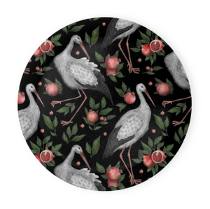 Storks and Pomegranates Pattern Coaster Set of 4 - Made to Order in London