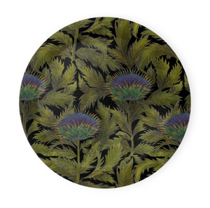 Artichoke Thistle Pattern Coaster Set of 4 - Made to Order in London