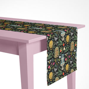 Secret Garden Pattern Luxury Table Runner - Handmade in London - 2 Sizes Available