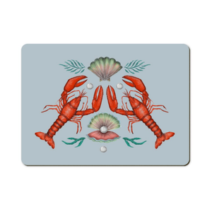 Two Lobsters Wooden Placemats - Handmade to order in London