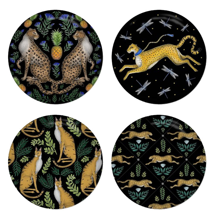 Big Cats - Set of 4 Round Coasters