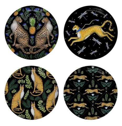 Big Cats Coaster Set - Made to Order in London
