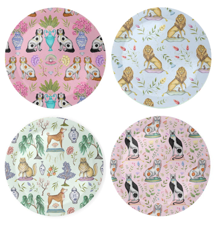 Chinoiserie Pattern Coaster Set - Made to Order in London