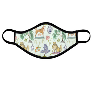 Chinoiserie Menagerie Pattern Face Mask - Handmade to Order
