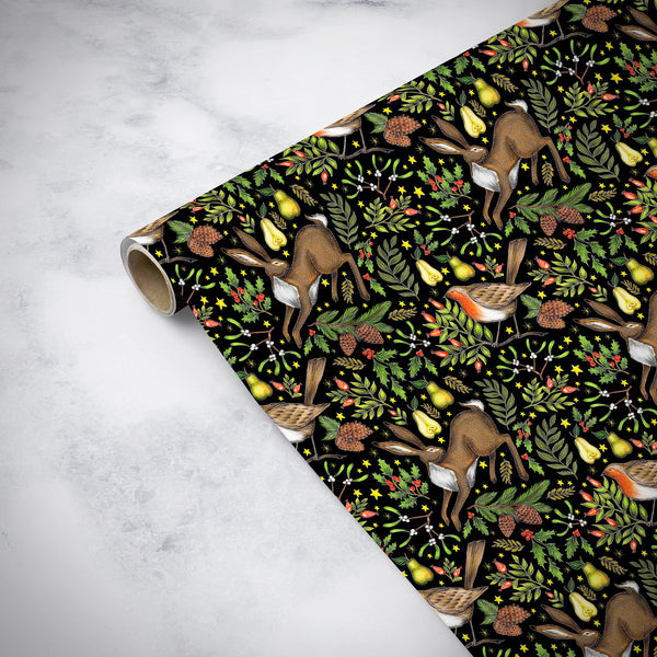Christmas Garden Wrapping Paper Gift Wrap Christmas Wrap Sheets
