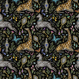 Dressing Table Pattern in Midnight Wallpaper
