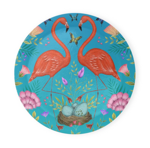 Tropical Flamingos Coaster Set of 4 - Made to Order in London