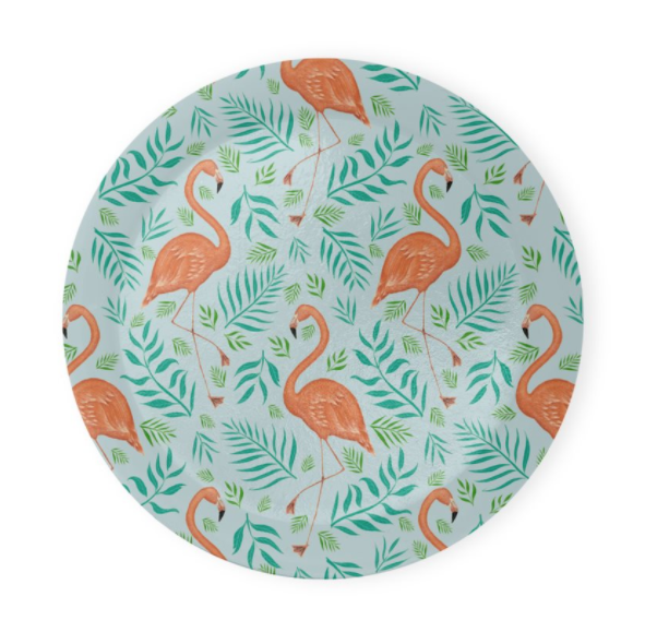 Flamingo Pattern Coaster Set of 4 - Made to Order in London