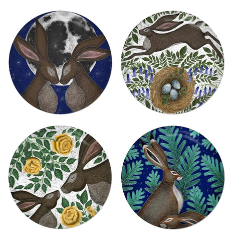 Hares Coaster Set - Made to Order in London