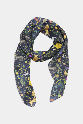 "I Regali ""The Gifts"" Pattern Scarf - 100% Silk or Vegan Silk"