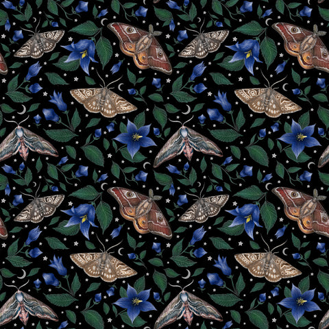 Moths Pattern Wallpaper