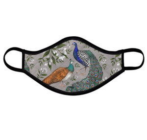 Peacock and Peahen Face Mask - Handmade to Order