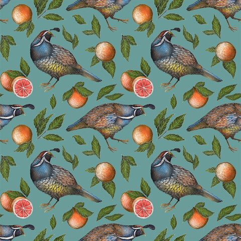 Quails Pattern Wallpaper