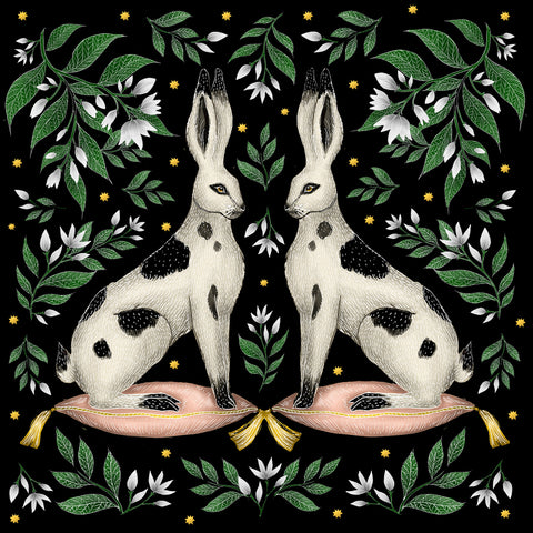China Rabbits Print