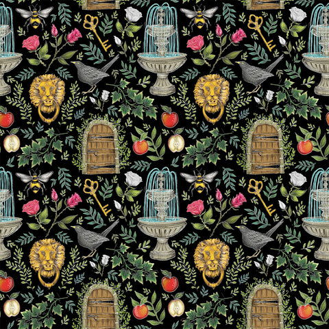 Secret Garden Pattern Wallpaper