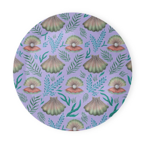 Shell Pattern in Lilac Coaster Set of 4 - Made to Order in London