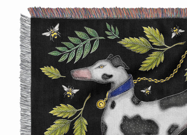 Spotty Dog & Tomatoes 100% Cotton Woven Blanket Throw