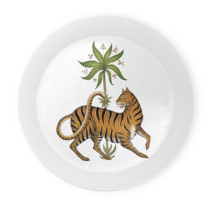 Tiger & Palm Coaster Set of 4 - Made to Order in London