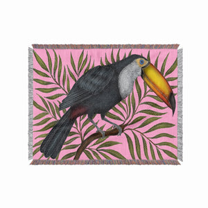Toucan 100% Cotton Woven Blanket Throw