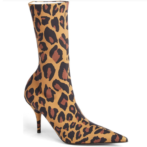 knife booties leopard