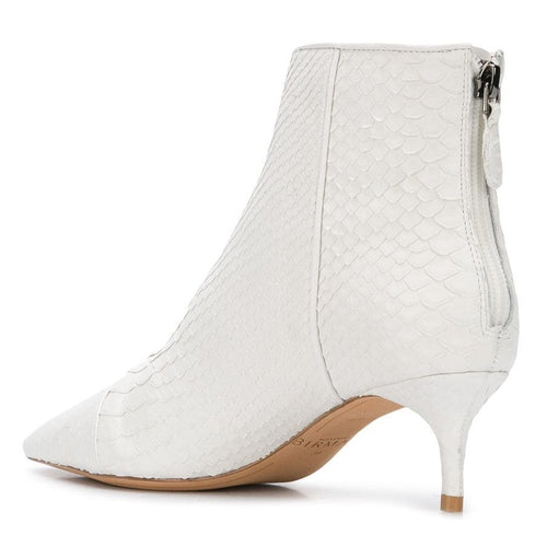 kittie boots white pyth