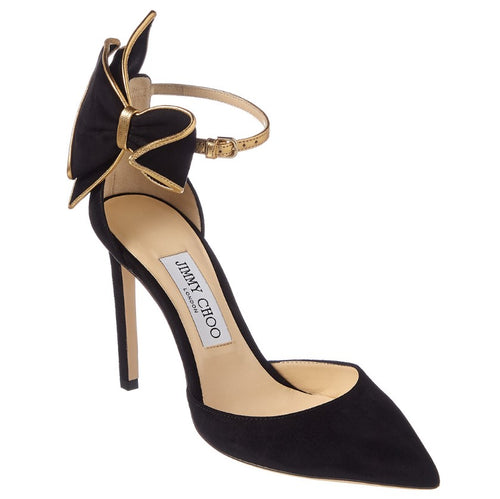kelley bow heels black gold