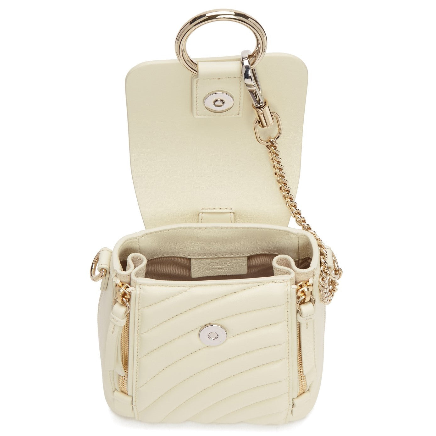Mini Faye Backpack white