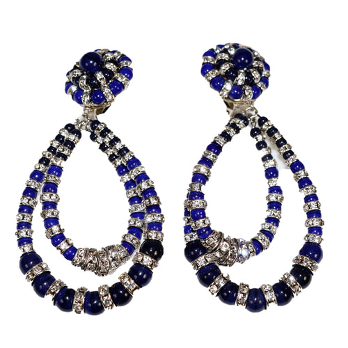 Parisian Earrings Large navy