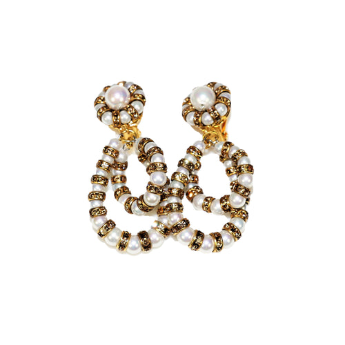 Parisian Earrings small white pearl