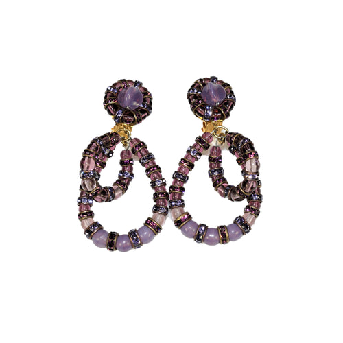 Parisian Earrings small purple