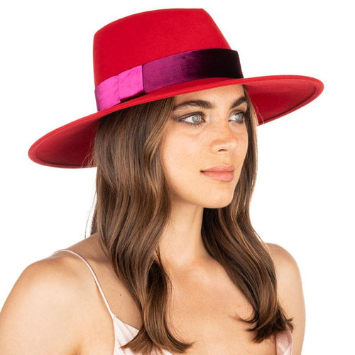 hat harlowe red pink