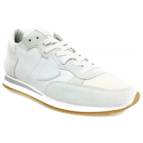 tropez trainers white suede and leather